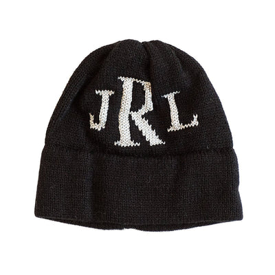 Metallic Hat with Monogram Initials-Hats-Jack and Jill Boutique