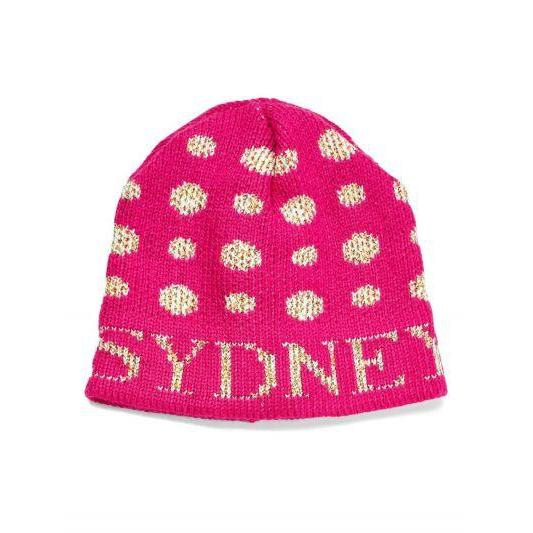 Metallic Polka Dot Personalized Knit Hat-Hats-Jack and Jill Boutique