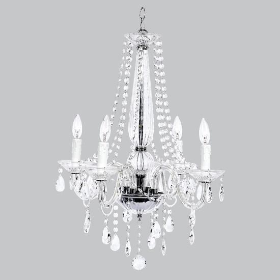 Middleton Glass Chandelier - 4 Light-Chandeliers-Default-Jack and Jill Boutique