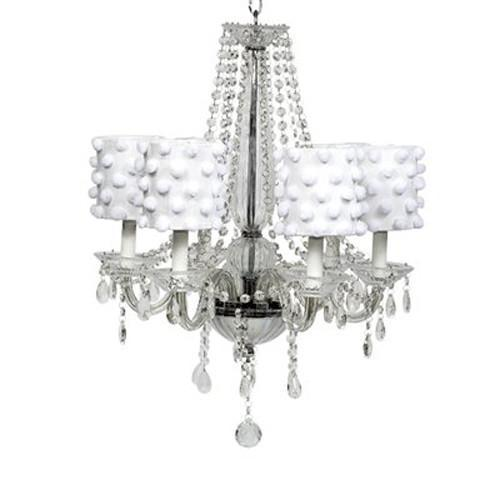 Middleton White 20-Inch Six Light Chandelier-Chandeliers-Default-Jack and Jill Boutique