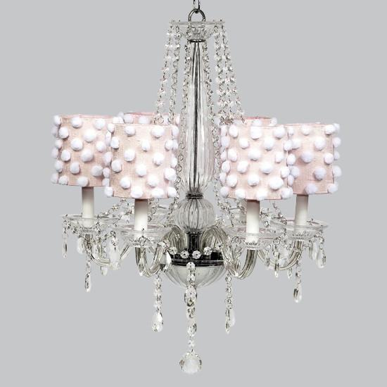 Middleton White 26-Inch Six Light Chandelier-Chandeliers-Default-Jack and Jill Boutique