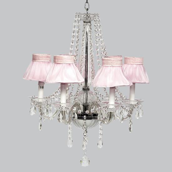 Middleton White Six Light Chandelier-Chandeliers-Default-Jack and Jill Boutique