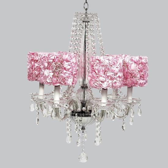 Middleton White Six Light Chandelier with Drum Shades-Chandeliers-Default-Jack and Jill Boutique