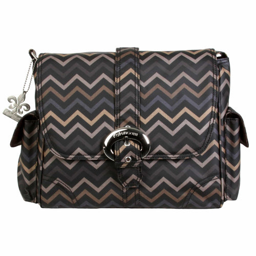 Mini Chevron Sahara Midi Matte Coated Buckle Diaper Bag | Style 2959 - Kalencom-Diaper Bags-Jack and Jill Boutique
