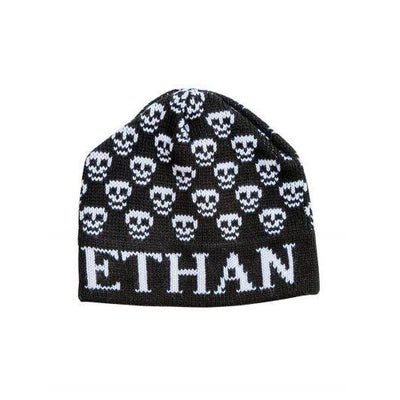 Mini Skulls Personalized Knit Hat-Hats-Jack and Jill Boutique