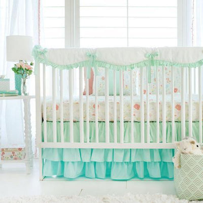Mint Spring Floral Baby Bedding Set-Crib Bedding Set-Default-Jack and Jill Boutique