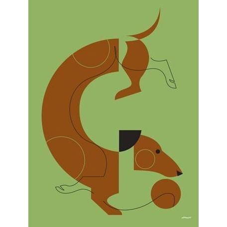 Mod Dog Dachshund | Canvas Wall Art-Canvas Wall Art-Jack and Jill Boutique