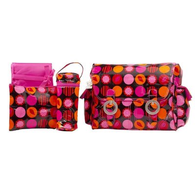 Mod Dots Fire Coated Double Buckle Diaper Bag | Style 2961 - Kalencom-Diaper Bags-Default-Jack and Jill Boutique
