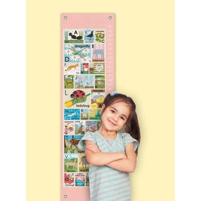 Modern Alphabet on Pink Growth Charts-Growth Charts-Default-Jack and Jill Boutique