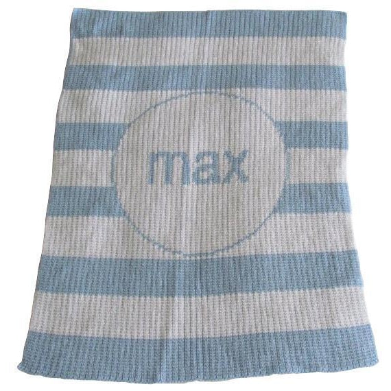 Modern Stripe Personalized Stroller Blanket or Baby Blanket-Blankets-Jack and Jill Boutique