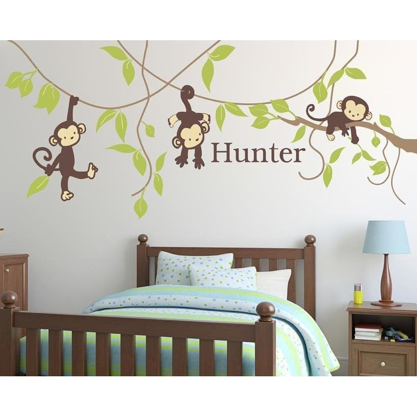 Monkey Around Fabric Decal-Decals-One Size-Jack and Jill Boutique