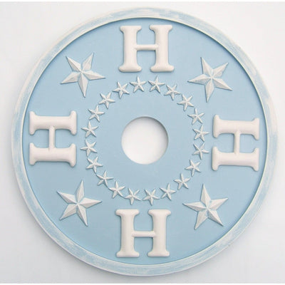 Monogram Ceiling Medallion Star Design-Medallions-Jack and Jill Boutique