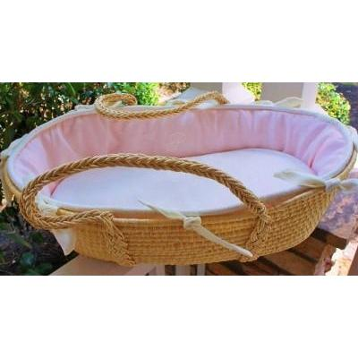 Monogram Series Pink Moses Basket-Moses Basket-Default-Jack and Jill Boutique