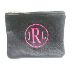 Monogrammed Personalized Pouch-Bag-Butterscotch Blankees-Jack and Jill Boutique