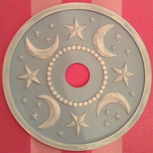 Moon and Stars Ceiling Medallions