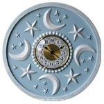 Moon and Stars Wall Clock-Wall Clock-Jack and Jill Boutique