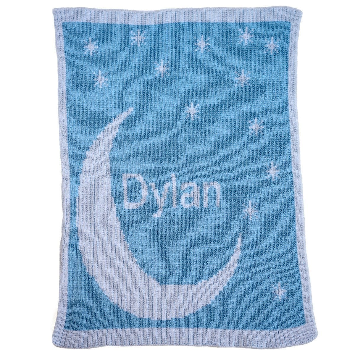Moon & Stars Personalized Stroller Blanket or Baby Blanket-Blankets-Jack and Jill Boutique