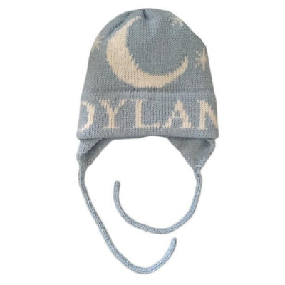 Moon & Stars Personalized Knit Hat-Hats-Jack and Jill Boutique