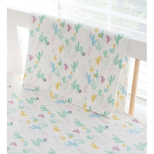 Multi Color Blanket | Cactus Cacti Crib Baby Bedding Set-Baby Blanket-Jack and Jill Boutique