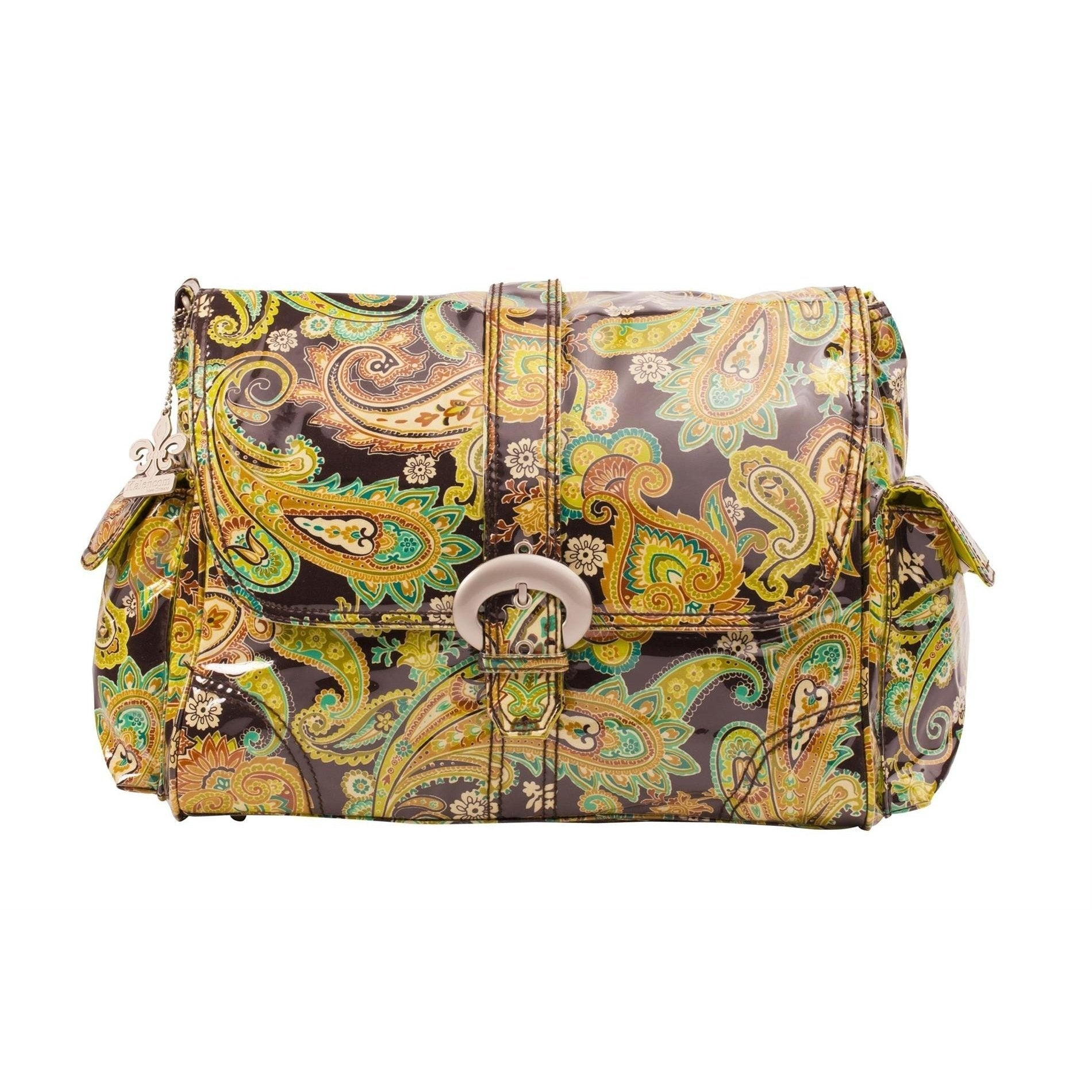 Multi Paisley - Pistachio Laminated Buckle Diaper Bag | Style 2960 - Kalencom-Diaper Bags-Default-Jack and Jill Boutique