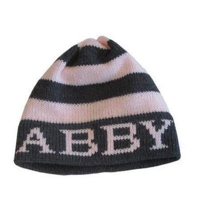 Name with Modern Stripe Hat-Hats-Default-Jack and Jill Boutique
