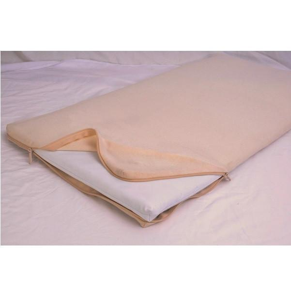 Natural Cotton Bassinet Mattress W/All In One Organic Cotton Coverlet