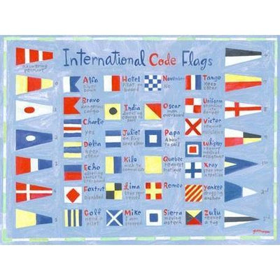 Nautical Flags | Canvas Wall Art-Canvas Wall Art-Jack and Jill Boutique