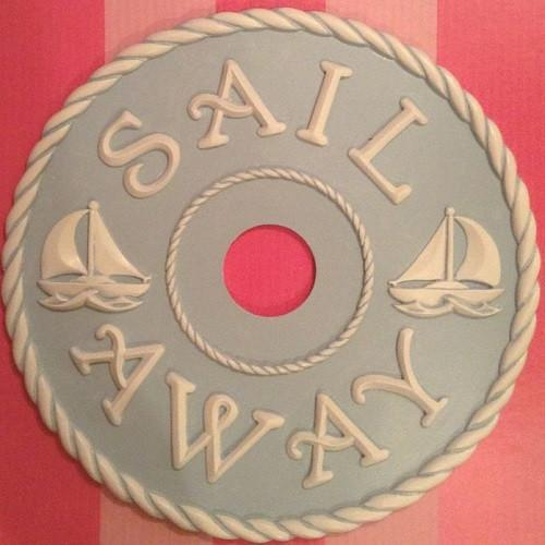 Nautical Sailboats Ceiling Medallions