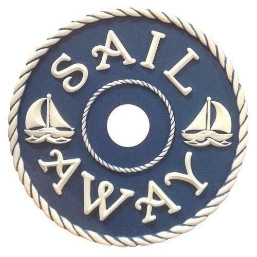 Nautical Sailboats Ceiling Medallions-Medallions-Jack and Jill Boutique
