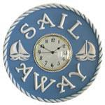 Nautical Sailboats ( Sail Away ) Wall Clock-Wall Clock-Jack and Jill Boutique