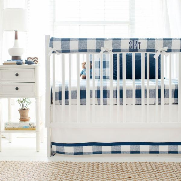Buffalo Plaid Crib Bedding | Navy Buffalo Bedding Collection-Crib Bedding Set-Jack and Jill Boutique