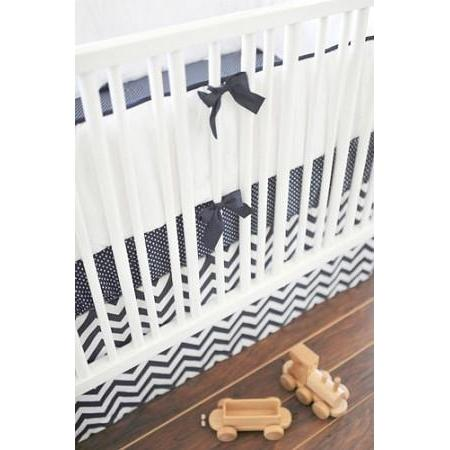 Navy Chevron Baby Bedding Set-Crib Bedding Set-Default-Jack and Jill Boutique