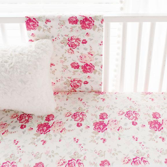 Nostalgic Rose 2 Piece Crib Baby Bedding Set-Crib Bedding Set-Default-Jack and Jill Boutique
