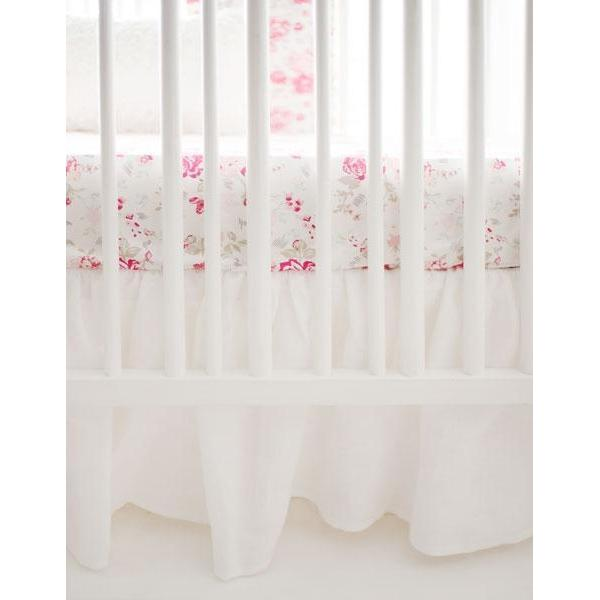 Crib Skirt | Ruffled White-Crib Skirt-Jack and Jill Boutique