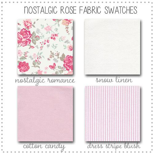 Fabric Swatches | Nostalgic Rose Baby Bedding Collection-Fabric Swatches-Jack and Jill Boutique
