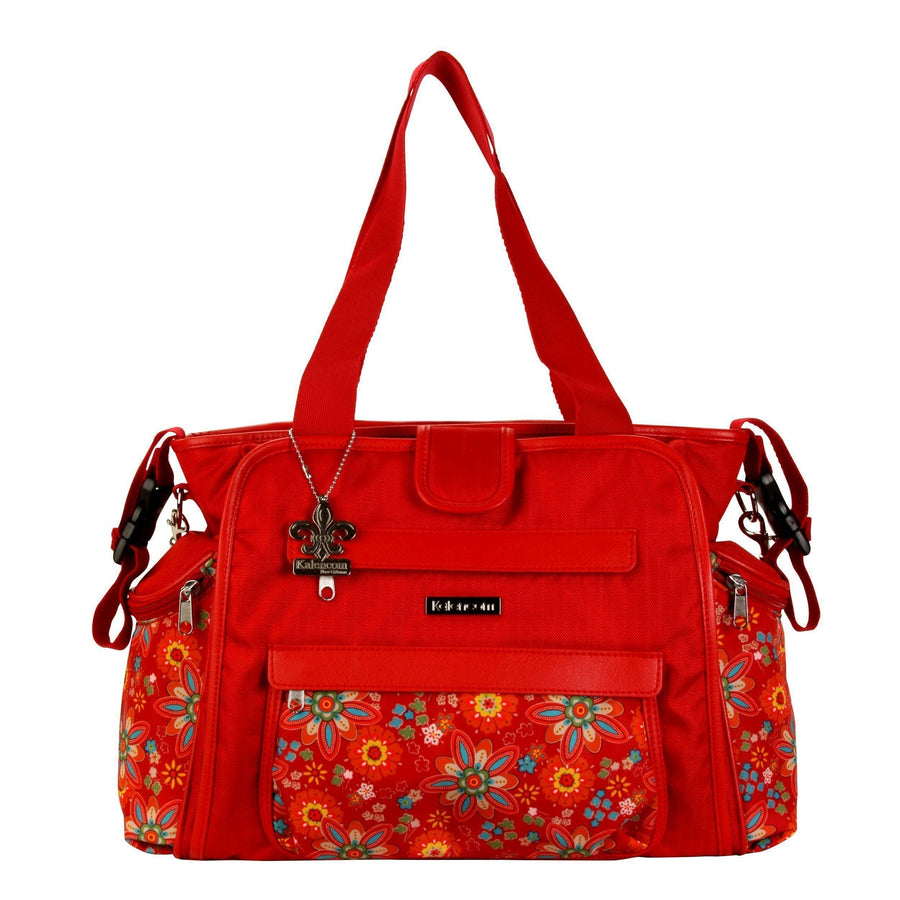 Nylon Coated Nola Tote Primavera Floral Diaper Bag | Style 2994 - Kalencom-Diaper Bags-Default-Jack and Jill Boutique