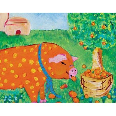 Orange Oink | Canvas Wall Art-Canvas Wall Art-Jack and Jill Boutique