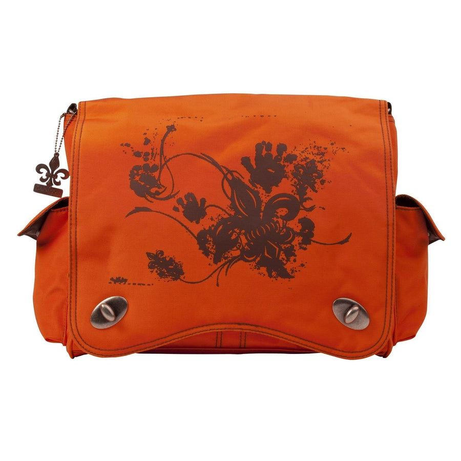 Orange Screened Sam'S Messenger Diaper Bag | Style 2962 - Kalencom-Diaper Bags-Default-Jack and Jill Boutique