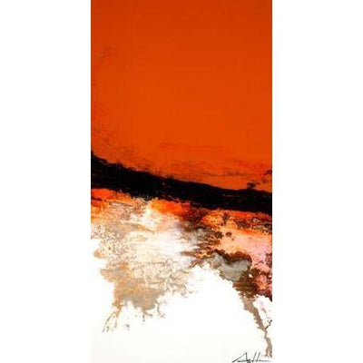Orange Vertical Line Series | Canvas Wall Art-Canvas Wall Art-Jack and Jill Boutique