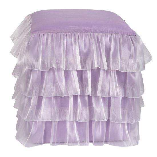 Ottoman: Ruffled Skirt - Lavender-Ottoman Skirt-Default-Jack and Jill Boutique
