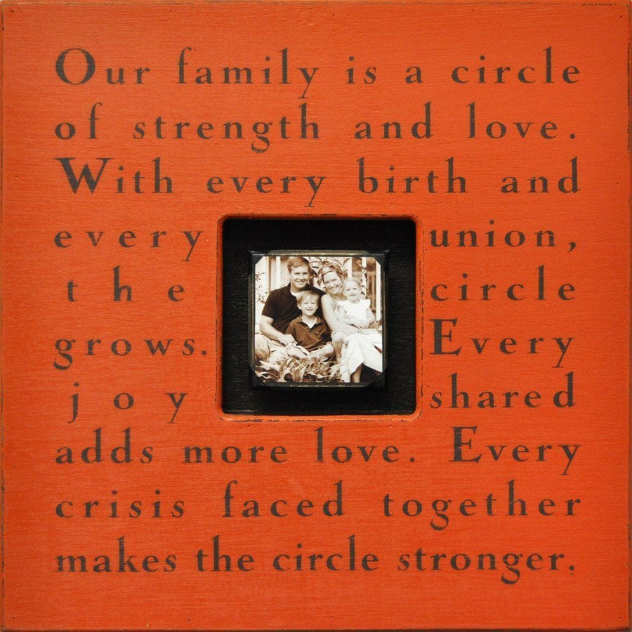 "Handmade Wood Photobox with quote ""Our Family Is a Circle""-Photoboxes-Default-Jack and Jill Boutique"