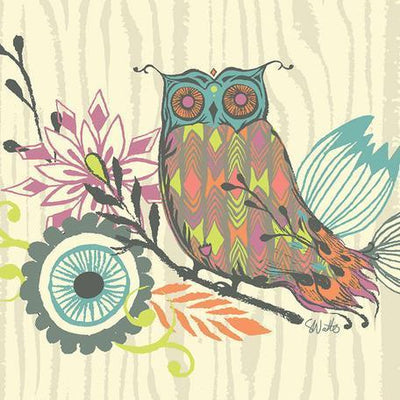 Owl & Foliage | Canvas Wall Art-Canvas Wall Art-Jack and Jill Boutique