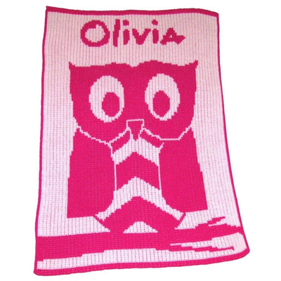 Owl Personalized Stroller Blanket or Baby Blanket-Baby Blanket-Jack and Jill Boutique