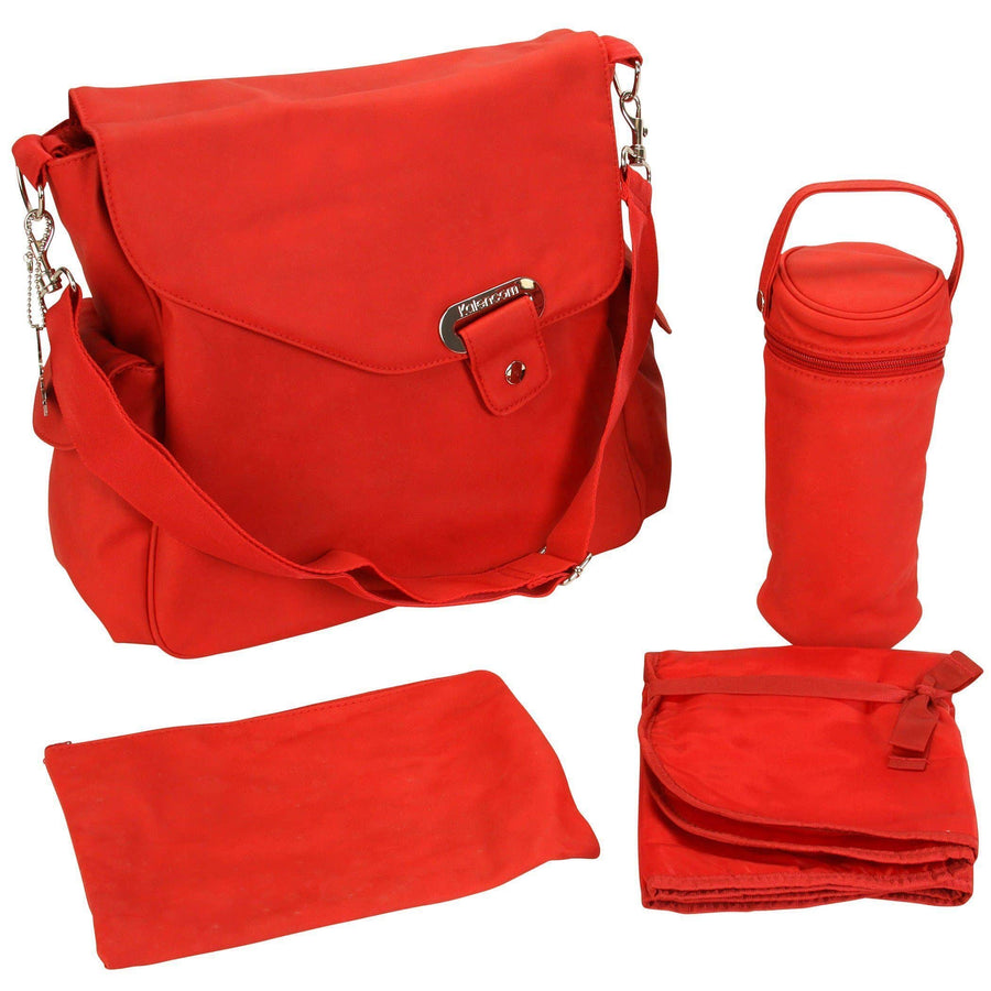 Ozz Vegan - Strawberry Red Diaper Bag | Style 2970 - Kalencom-Diaper Bags-Default-Jack and Jill Boutique