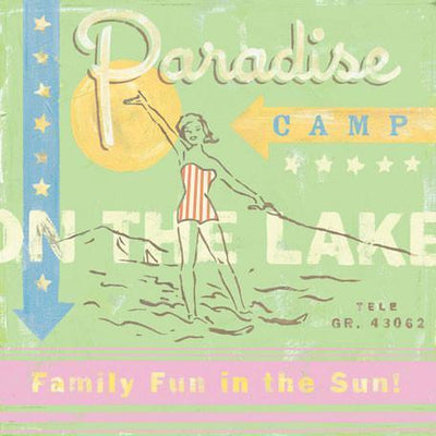 Paradise Camp- Water Ski | Canvas Wall Art-Canvas Wall Art-Jack and Jill Boutique