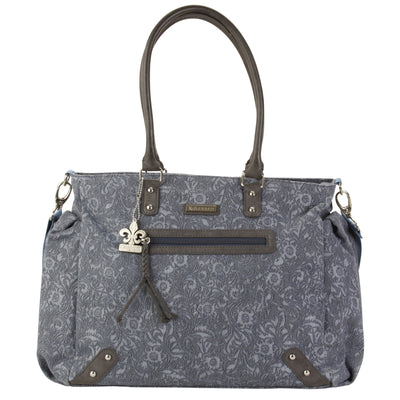 Paris - Denim Paisley Diaper Bag | Style 2998 - Kalencom-Diaper Bags-Default-Jack and Jill Boutique