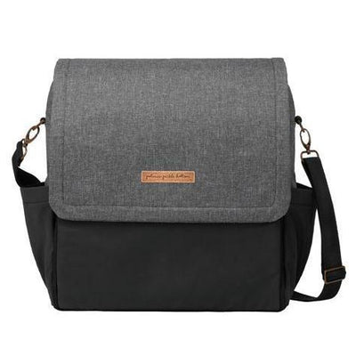 Boxy Backpack Diaper Bags | Petunia Pickle Bottom-Diaper Bags-Graphite/Black-Jack and Jill Boutique