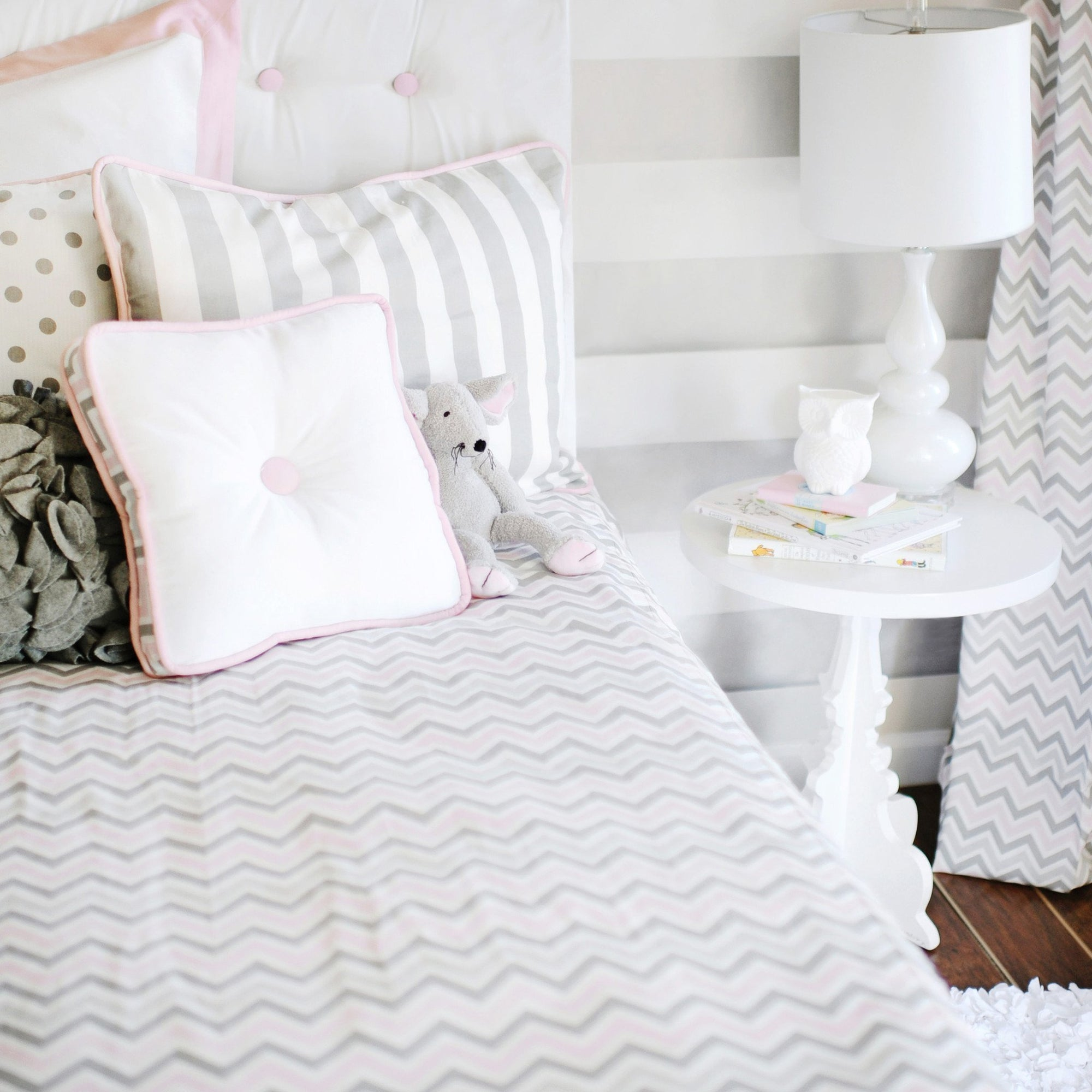 Peace Love and Pink Twin Duvet OR Coverlet-Duvets-Jack and Jill Boutique