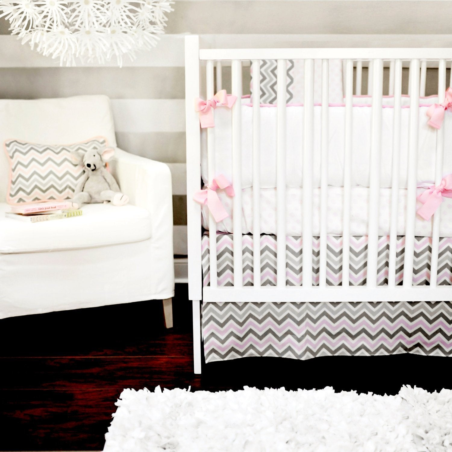 Peace, Love & Pink Baby Bedding Set-Crib Bedding Set-Jack and Jill Boutique