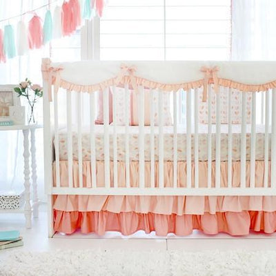 Peach Once Upon a Time Baby Bedding Set-Crib Bedding Set-Jack and Jill Boutique